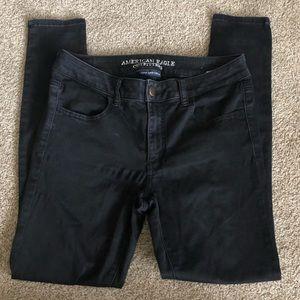American Eagle black high rise skinny jeans